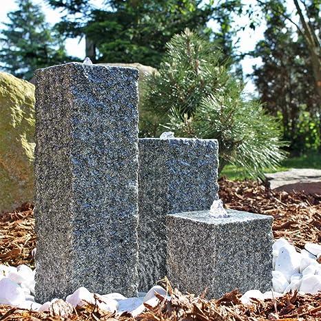 Clgarden Granit Springbrunnen Sb2 3 Teiliger Säulenbrunnen