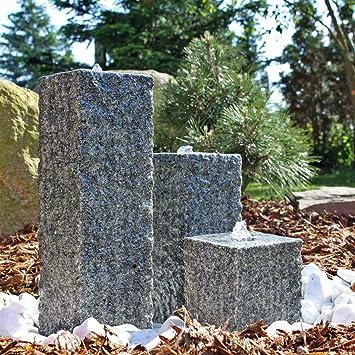 CLGarden Granit Springbrunnen SB2-3 teiliger Säulenbrunnen ...