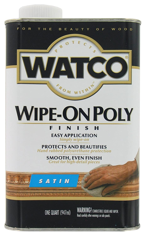 Watco 68041 Wipe-On Polyurethane Finish, Quart, Clear Gloss Rust-Oleum