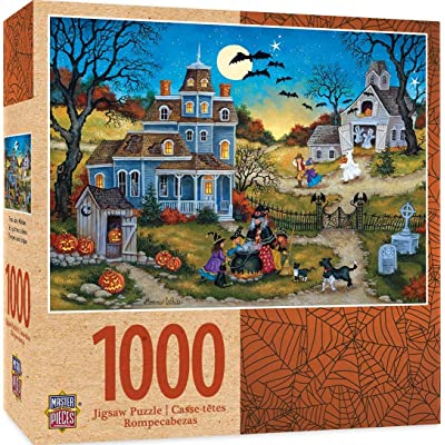 MasterPieces Halloween Jigsaw Puzzle, Three Little Witches, Featuring Art by Bonnie White, 1000 Pieces: Toys & Games