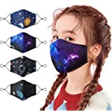 Kids Reusable and Washable Cotton Bandanas Protective Cotton Covers Breathable Seamless Cute Print Cotton for Children…