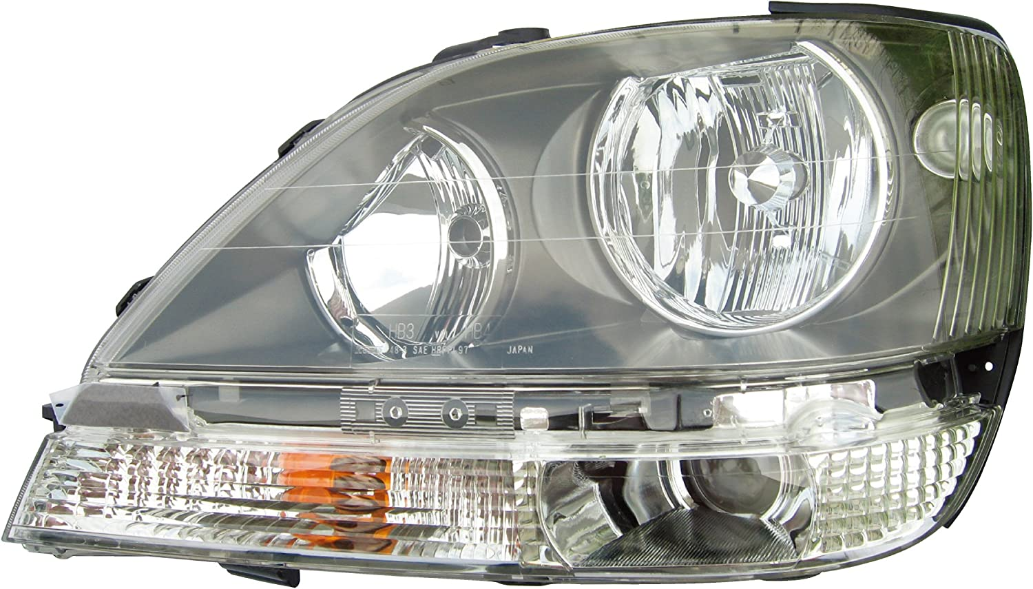 Eagle Eyes 292015 Right Left Driver Passenger Side OS NS RH LH Side Repeaters Indicators Blinkers Chrome Crystal Clear