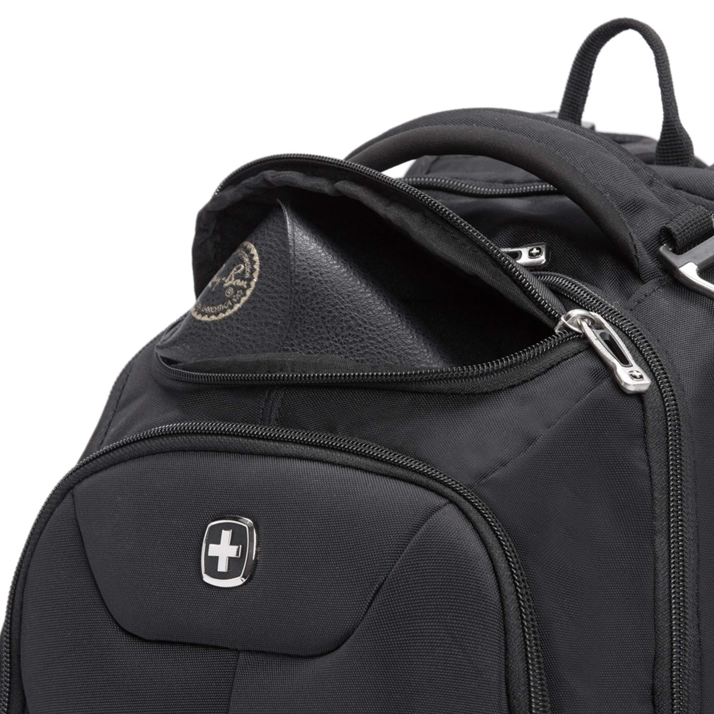 SWISSGEAR Large ScanSmart 15-inch Laptop Backpack   TSA-Friendly Carry-on   Travel, Work, School   Men's and Women's - Black by SwissGear (Image #8)