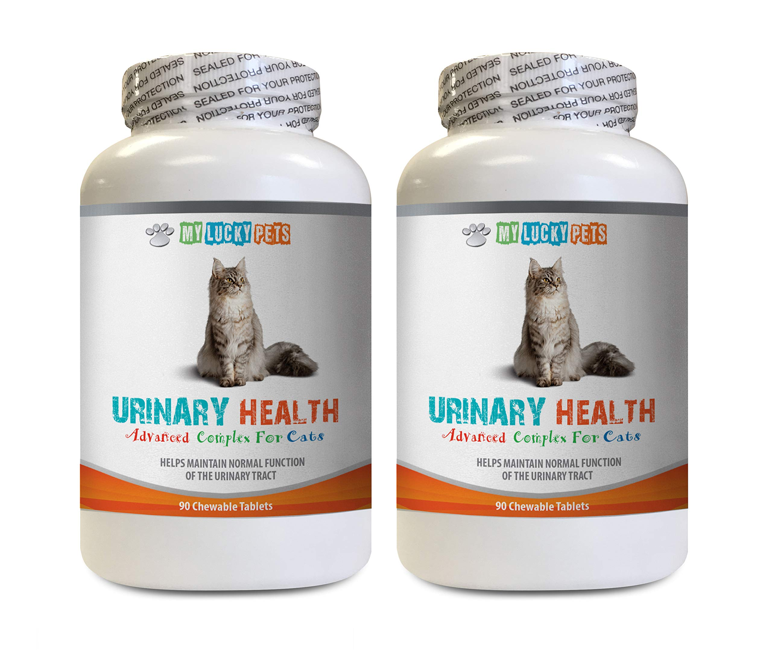 MY LUCKY PETS LLC cat Urinary Care - CAT Urinary Health Formula - Support Bladder Health - Natural Complex - cat Urinary Chews - 2 Bottle (180 Treats)