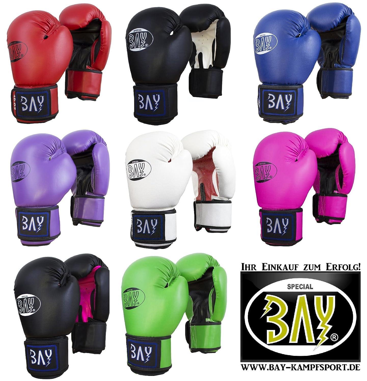 BAY/® Future Boxhandschuhe schwarz//wei/ß small Hand PU Leder Box-Handschuhe Boxhandschuh Glover 8 Unzen UZ OZ