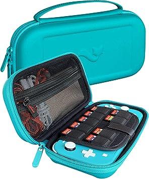 ButterFox Elite - Funda de Transporte para Nintendo Switch Lite con 9 Juegos y 2 Soportes para Tarjetas Micro SD, Color Azul Turquesa: Amazon.es: Electrónica