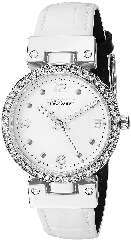 71bce9bca466 Amazon.com  Caravelle New York Women s 43L201 Swarovski Crystal Strap  Watch  Watches