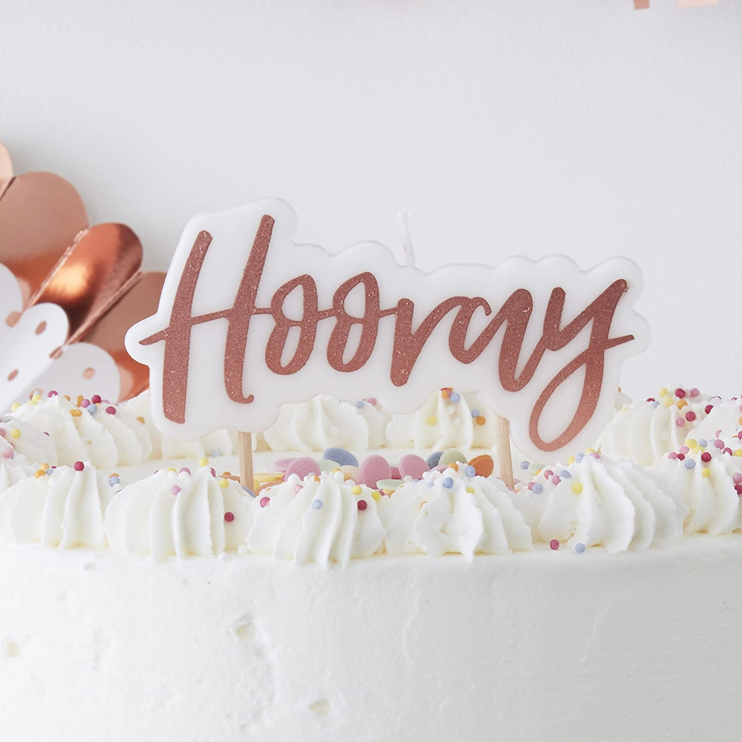 Stupendous Ginger Ray Designer Rose Gold Birthday Cake Candle Hooray Pick Funny Birthday Cards Online Alyptdamsfinfo