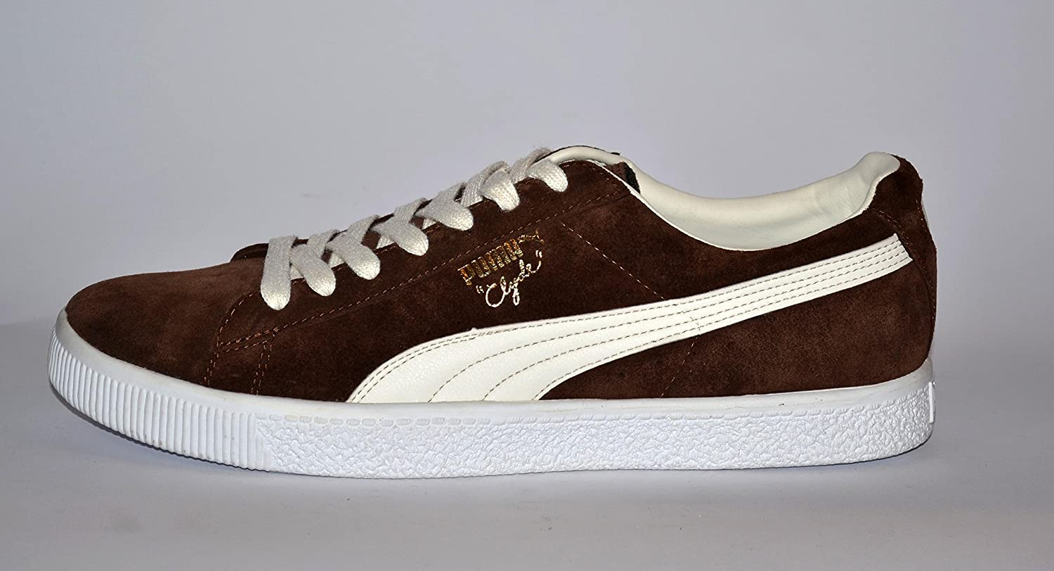 competitive price 67d7c 4721f Puma Trainers Shoes Mens Clyde Suede Brown [7, 5 Uk]: Amazon ...