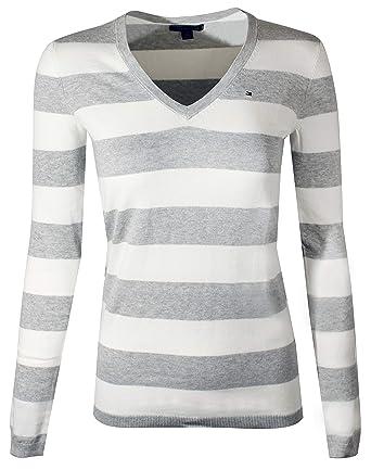tommy hilfiger v-neck pullover weiß