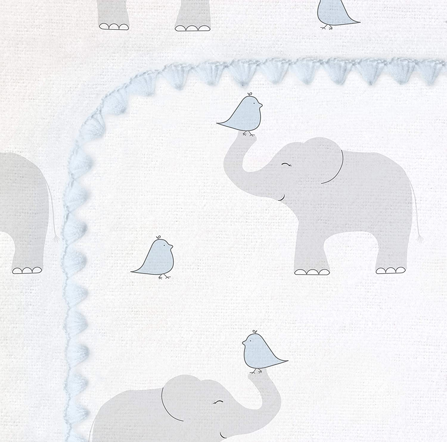 SwaddleDesigns Ultimate Swaddle Made in USA Premium Cotton Flannel X-Large Receiving Blanket Elephant and Pastel Pink Chickies Moms Choice Award Winner