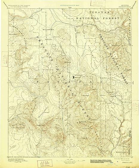Amazon Com Yellowmaps Prescott Az Topo Map 1 250000 Scale 1 X 1