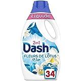 Dash 2in1Dash 2in1Flüssigwaschmittel Fleur de Lotus/Lys 1,87l 34Waschgänge, 2Stück