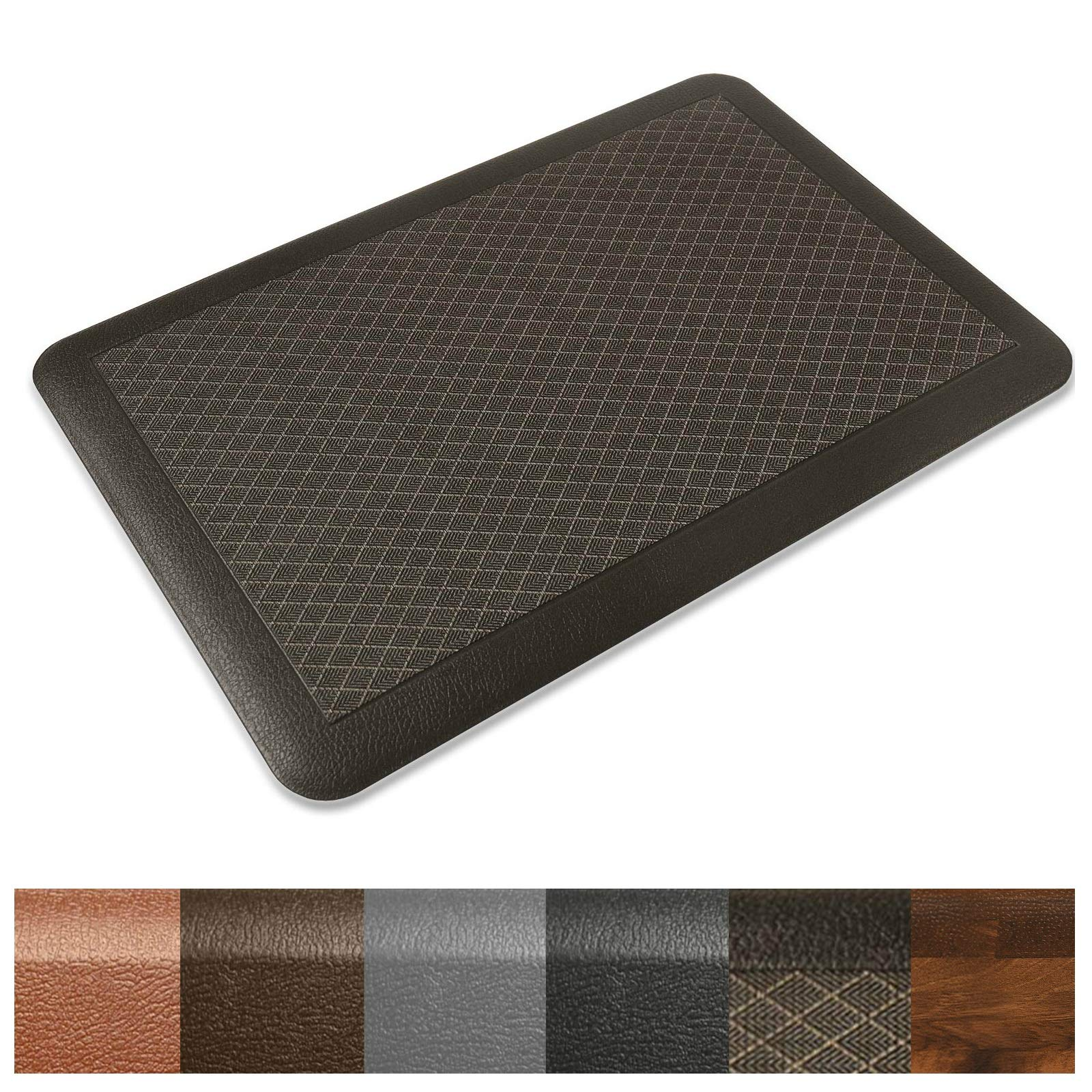 Kitchen Mat | Anti Fatigue Mat, 3/4 Thick | Ergonomically Engineered, Non-Slip, Waterproof | 20''x30'' - Dark Brown