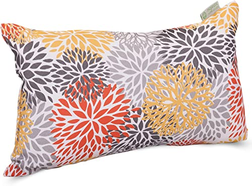 Majestic Home Goods Citrus Blooms Indoor Outdoor Small Throw Pillow 20 L x 5 W x 12 H