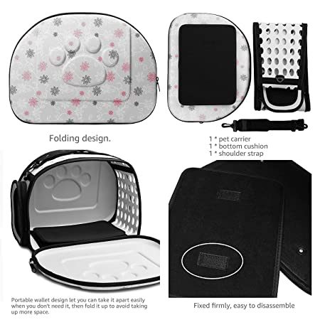 Amazon.com : Century Star Pet Carrier for Cats and Dogs Collapsible Soft Sided Hard Cover Handbag Puppy Carrying Travel Safety Shoulder Bags Grey : Pet ...