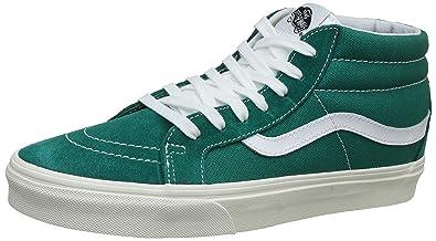 76592c1852 Vans Unisex s Sk8-Mid Reissue (Retro Sport) Cadmium Green Sneakers-10 UK