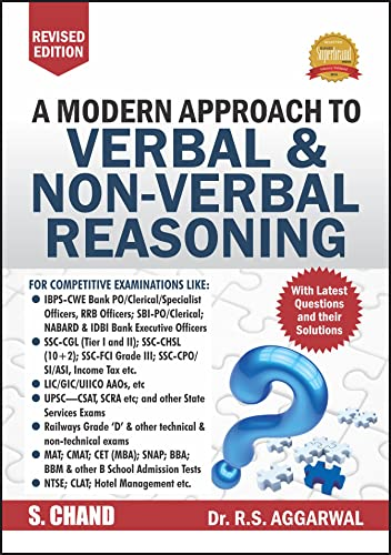 A Modern Approach to Verbal & Non-Verbal Reasoning (R.S. Aggarwal)