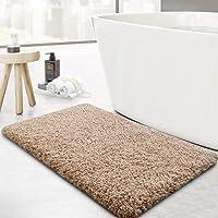 WISELIFE Microfiber Bathroom Rugs Bath Mat,20x32in,Khaki,Non-Slip Shower Rugs,Soft Absorbent Doormat Indoor Throw Rug…