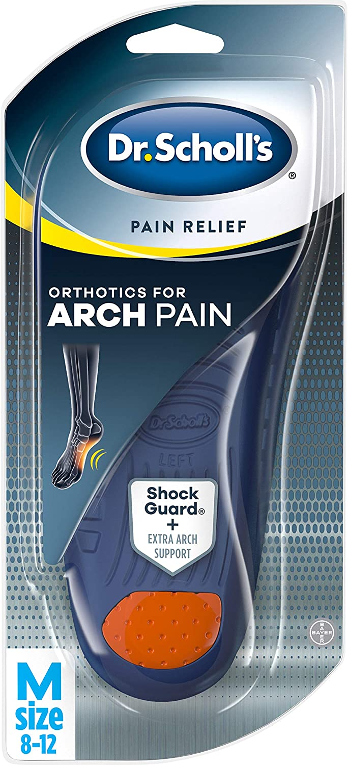 Dr. Scholl's ARCH Pain Relief Orthotics // Arch Support Inserts Clinically Proven to Provide Immediate and All-Day Relief of Arch Pain (for Men's 8-12, also available for Women's 6-10): Health & Personal Care