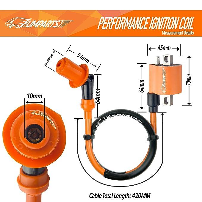 umparts Universal caliente fuego alto rendimiento bobina de encendido Bujía CDI de CA A7TC para motores de 4 tiempos GY6 Motor Scooter Ciclomotor ATV Go ...