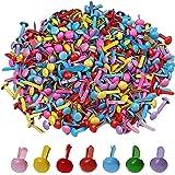 Lot de 500mini attaches parisiennes, 0,8cmx0,5cm, rondes, pastel, multicolores, papier craft, albums, artisanat