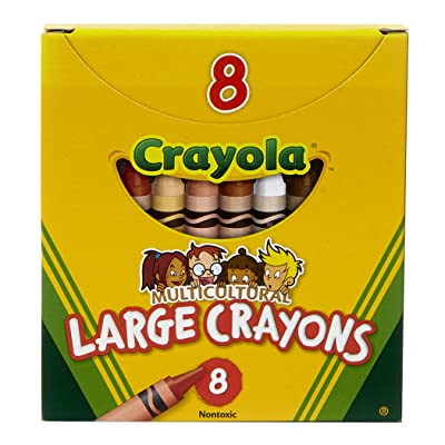 Crayola Multi-Cultural Crayons, Large, 7/16 x 4 Inches, Assorted Skin Tone Colors, Pack of 8: Toys & Games