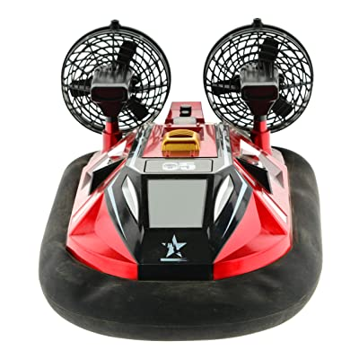1:10 Scale Hovercraft with Inflatable Skirt. Can be Driven on Any Flat Surface and on Water 2.4 GHz Remote with Rechargeable Batteries: Toys & Games