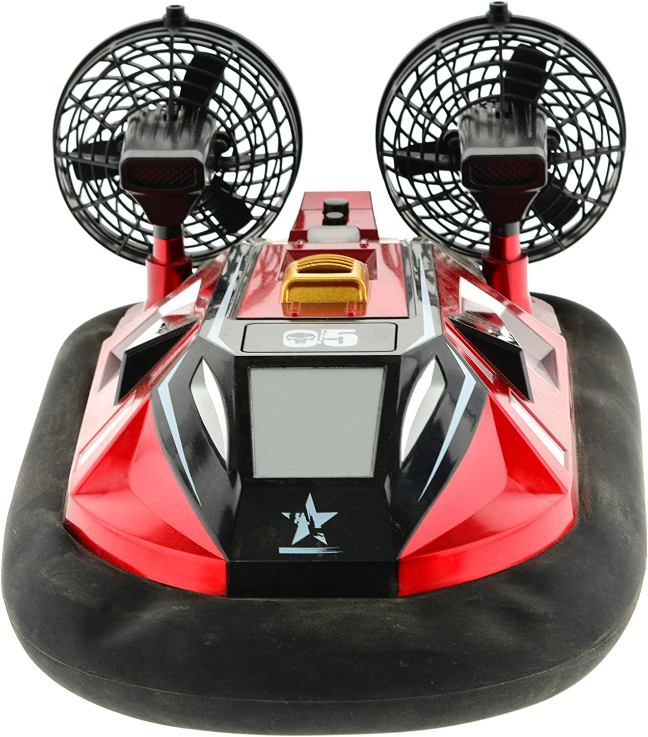 1:10 Scale Hovercraft with Inflatable Skirt. Can be Driven on Any Flat Surface and on Water 2.4 GHz Remote with Rechargeable Batteries