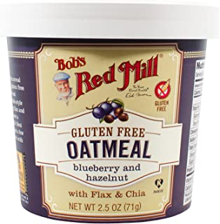 product image for Bob's Red Mill Gluten Free Oatmeal Cup Blueberry & Hazelnut, 2.5-ounce (Pack of 12)