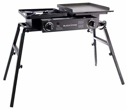 Blackstone Tailgater Portable Gas Grill and Griddle Combo With Barbecue Box and Open Burner Stove - Great for Hunting, Fishing, Camping and Tailgating