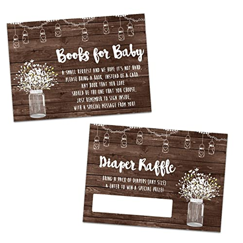 amazon com country mason jar baby shower diaper raffle tickets or