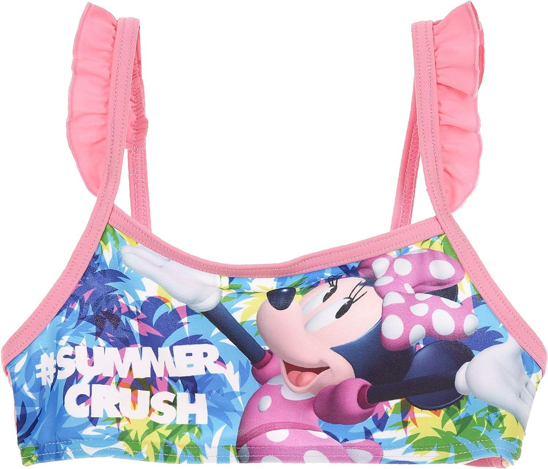 Minnie Costume da Bagno Bambina Due Pezzi Bikini Colori Rosa Fuxia-Rosa Turchese Taglie 3-4-6-8 Anni