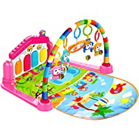Toyshine Baby's Playmat Gym with Toys, Made of Non Toxic Materials - Pink