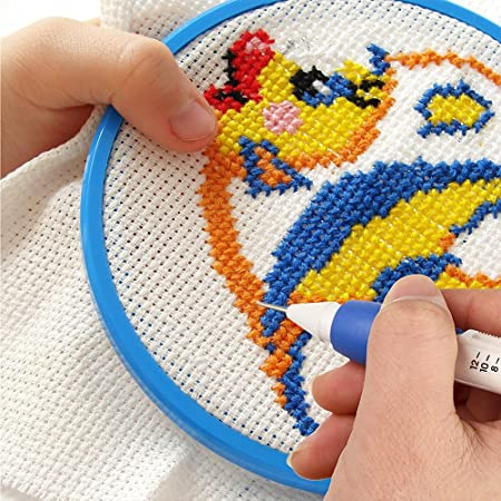Kit de pluma de Bordado, Magic Embroidery Pen Kit de Aguja de Perforación Herramienta de Costura de Tejer Herramienta de Bricolaje para Niños de Coser: ...