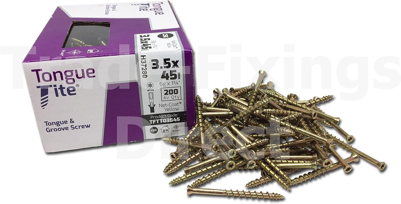 TORX security NEW Lost-Tite Screw 3.5 x 49mm DIY 100 Pack easy fix screw