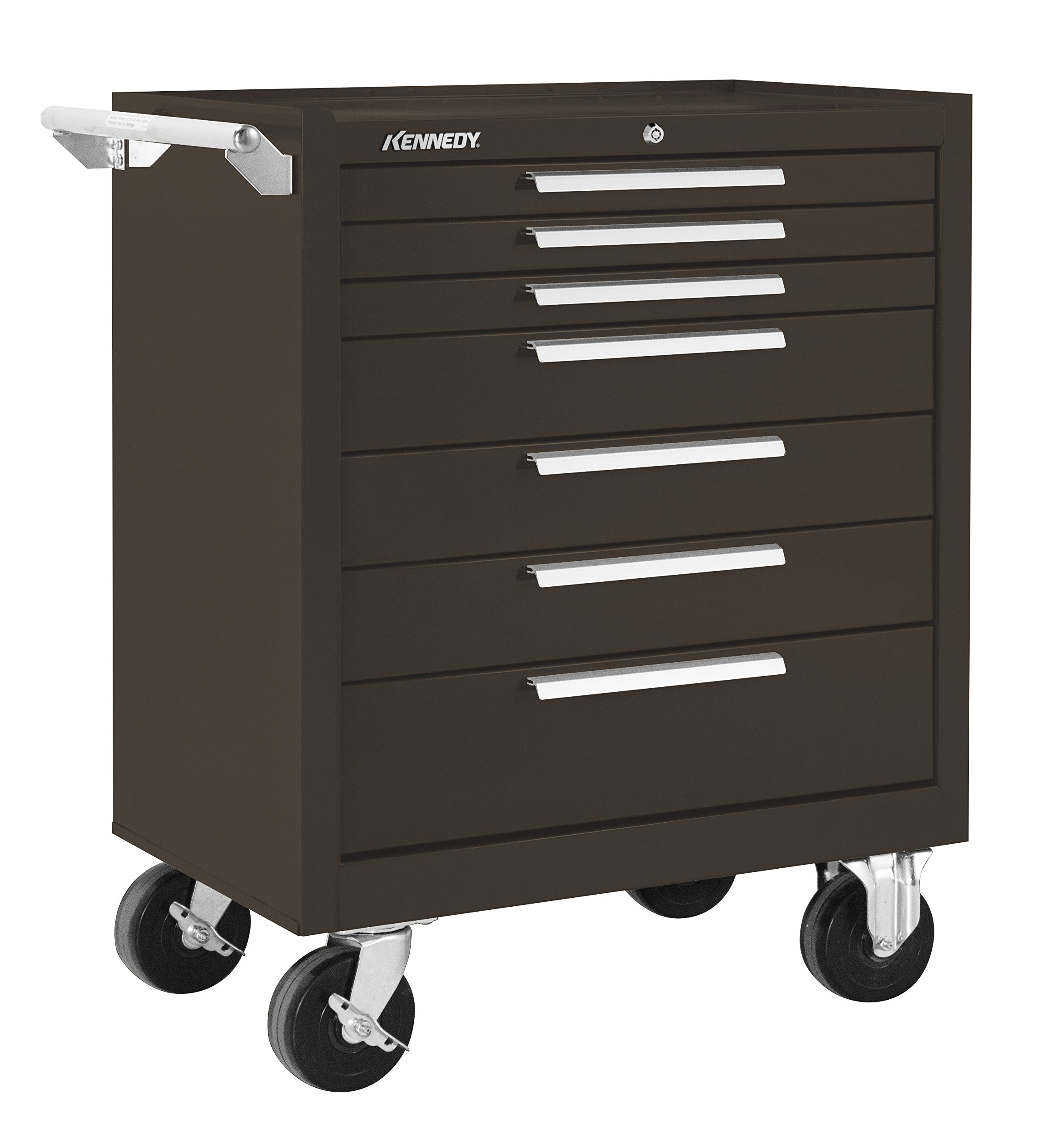Kennedy Manufacturing 297Xb 7-Drawer Roller Tool Cabinet With Chest Wheels And Ball-Bearing Slides, Brown Wrinkle