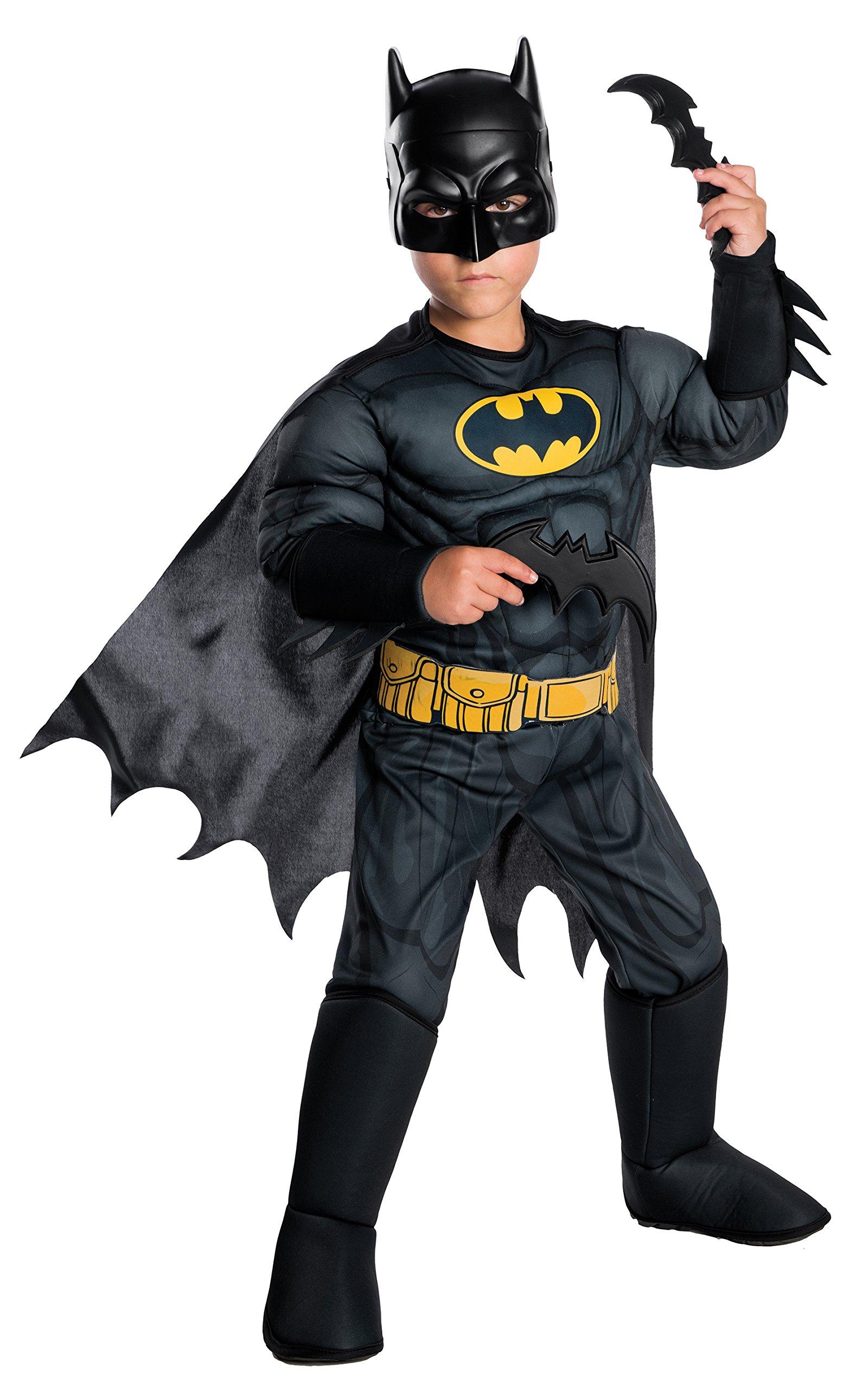 Rubie's Costume Boys DC Comics Deluxe Batman Costume, Medium, Multicolor