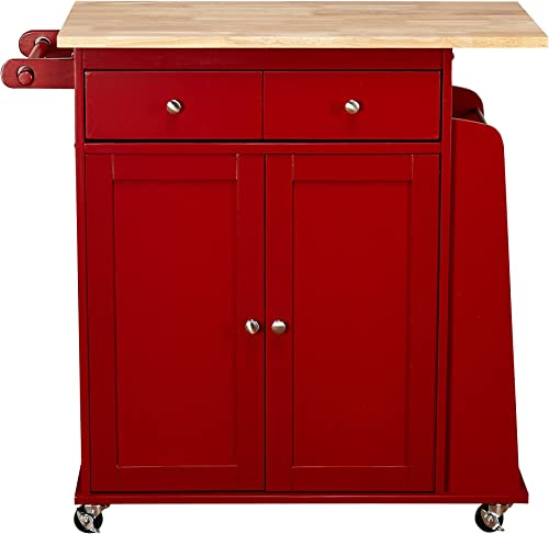 Target Marketing Systems Sonoma Collection Two-Toned Rolling Kitchen Cart