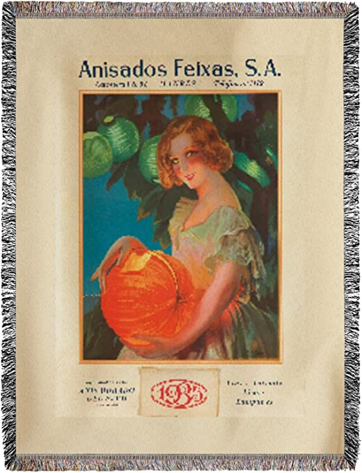 anisado Feixas Vintage Póster (artista: Campamentos) España C. 1934 (60 x 80 manta de chenilla, hilo): Amazon.es: Hogar