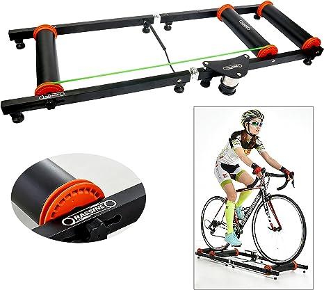 YaeTek Entrenador de rodillo de bicicleta para interiores, color negro, de calidad prémium: Amazon.es: Deportes y aire libre
