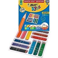 BIC Kids Evolution ECOlutions Colouring Pencils - Assorted Colours, Classpack of 144 Coloured Pencils Set School Supplies