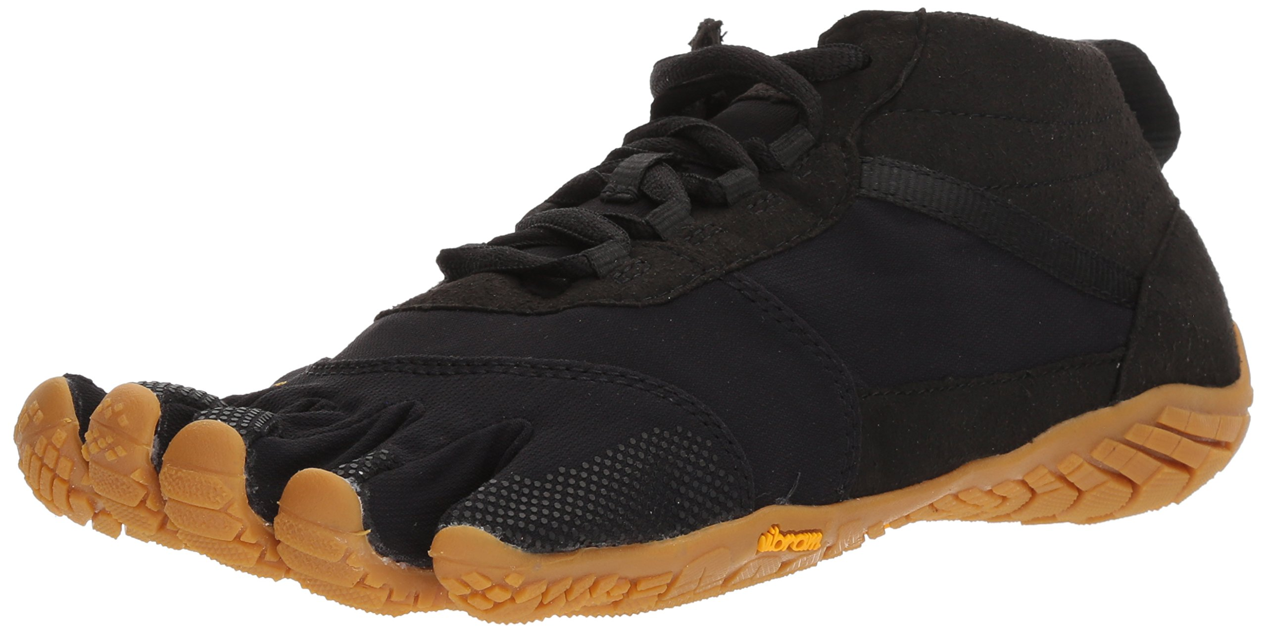 Vibram Men's V-Trek Hiking Shoe, Black/Gum, 41 EU/8.5-9.0 M US D EU (41 EU/8.5-9.0 US US)