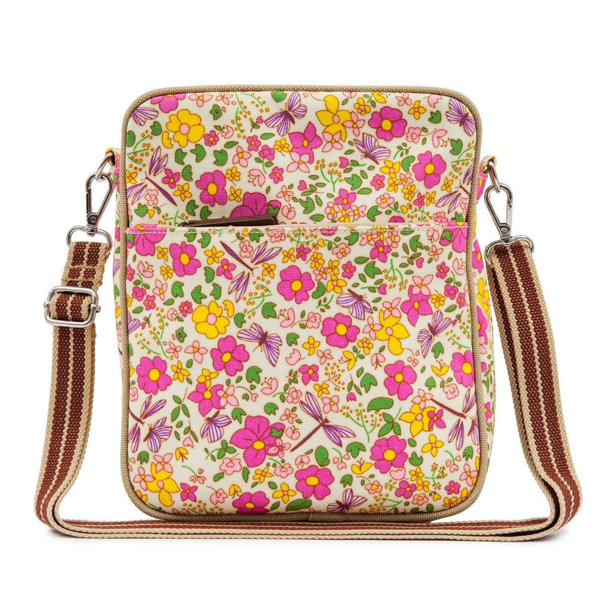 Pink Lining Out and About Mini Messenger Sunflowers Changing Bag