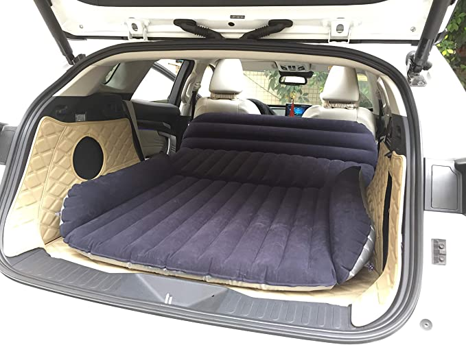 with Electric Pump Mattress Towel Set Gray PAVONI SUV Heavy-Duty Backseat Car Inflatable Travel Mattress for Camping//Perfect for SUV//RV//Minivan