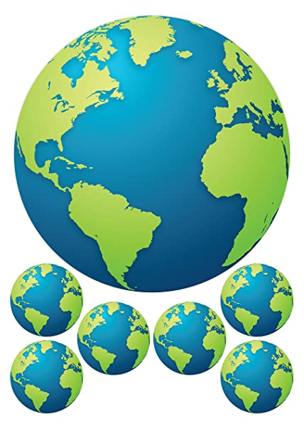 Home & Garden Earth Globe Map Image Cake Topper Frosting Sheet Personalized