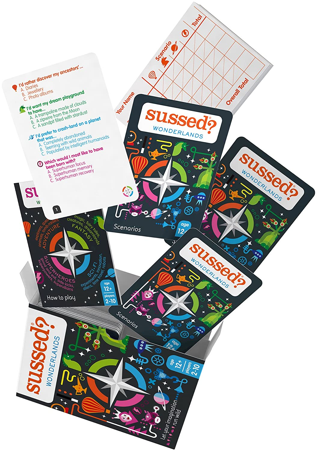 Hilarious Family Friendly Conversation Card Game SUSSED Wonderlands Find Out Who Knows Who Best