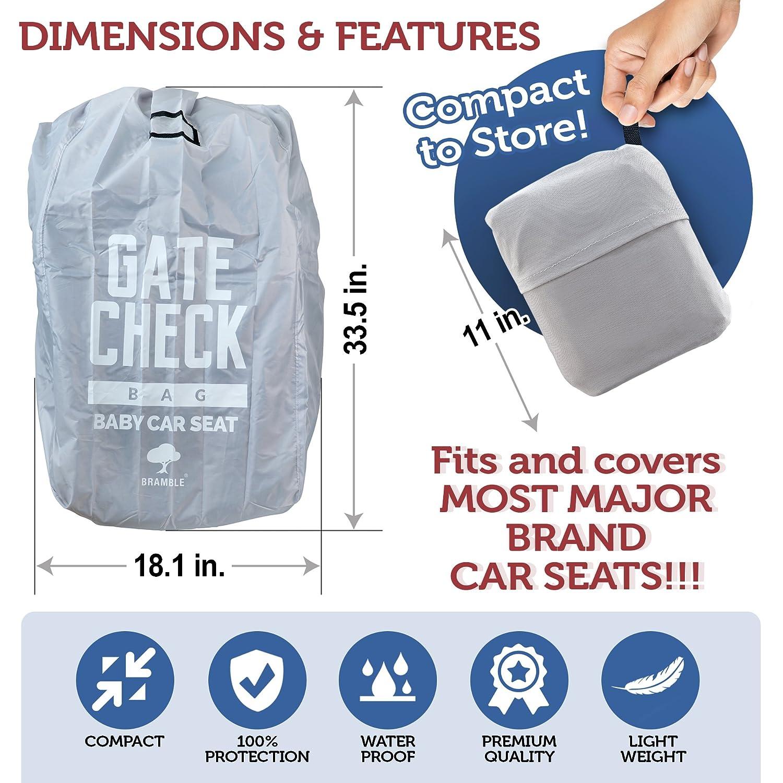 Ideale per Aereo Gate Check-in e Stoccaggio Facile da tTasportare e Identificare Sul Nastro Bagagli Dellaeroporto Borsa da Viaggio per Seggiolino Auto Compatto e Impermeabile 100/% Protezione