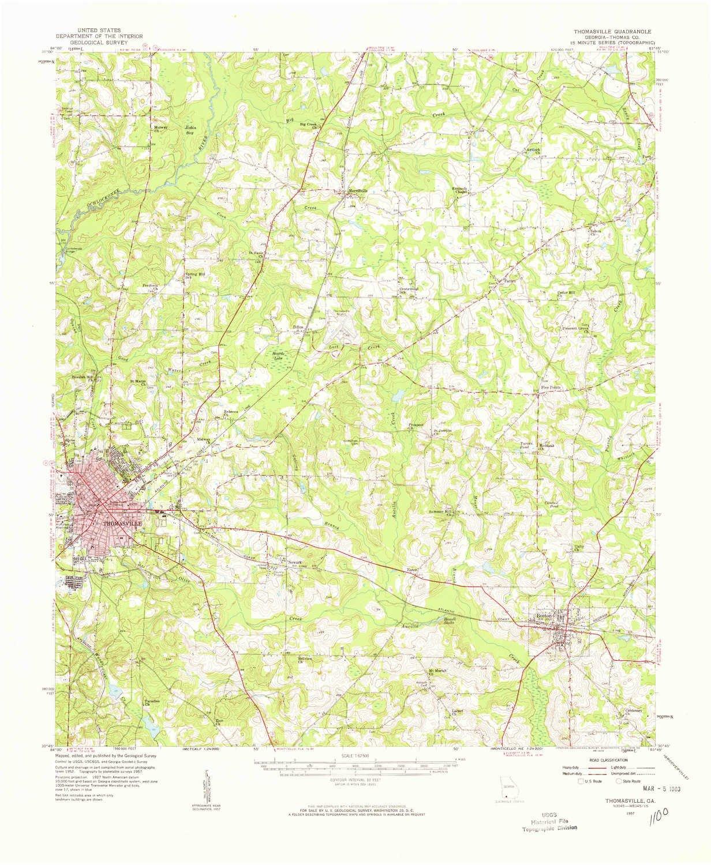 Thomasville Georgia Map.Amazon Com Yellowmaps Thomasville Ga Topo Map 1 62500 Scale 15 X
