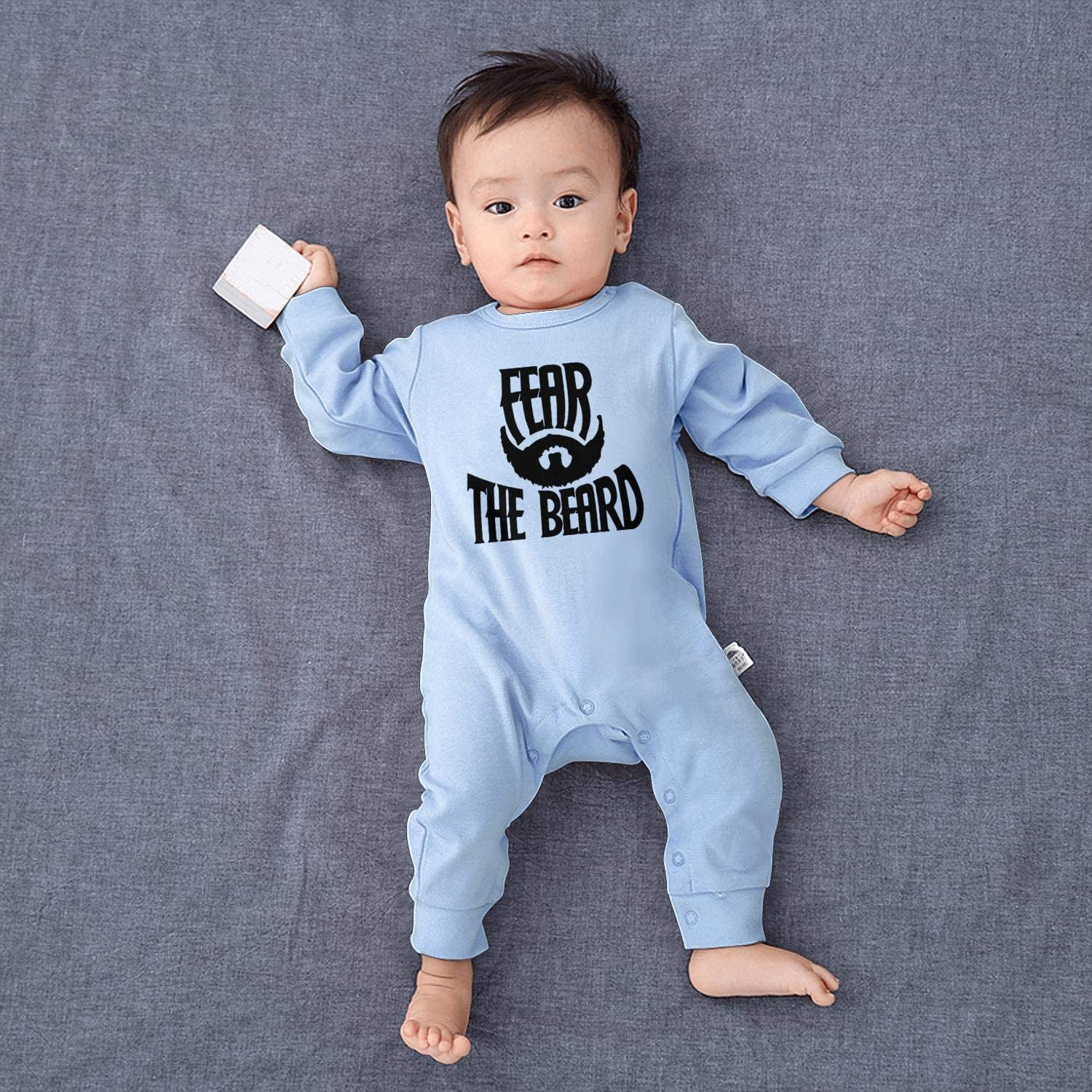 Baby Boys Unisex Fear The Beard Logo Footed Pajamas 100/% Cotton Soft Jumpsuits